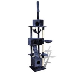 SKB Family Cat Tree Scratching Post - 3 Condos Dark Blue New Kitten Play House Toy Tower * Very nice of you to drop by to see the photo. (This is our affiliate link) Dog Furniture, Types Of Furniture, Furniture Styles, Outside Dog Houses, Outside Dogs, Sisal, Cat Tree House, Cat Activity, Cat Perch