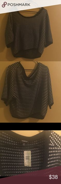 Torrid cropped jacquard top BRAND NEW WITH TAGS! Perfect for a girls night out at the clubs or bars! torrid Tops Crop Tops