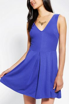 #UrbanOutfitters          #Women #Dresses           #allover #stretchy #box-pleat #silence #rayon #content #cutouts #flare #noise #back #exclusive #construction #pullover #v-neck #knit #skirt #nylon #care #fit #full #dress #front     Silence   Noise Box-Pleat Fit & Flare Dress         Perfectly pleated fit & flare dress from Silence   Noise in a stretchy knit.? Topped with allover texturing and a box-pleated full skirt.? Cutouts at the back; v-neck at the front.?? Pullover construction.? UO…