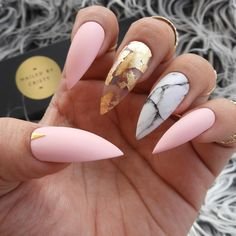 pink nails — 50 Cute Pink And White Nails Design Ideas You Wish To Try Gorgeous Nails, Love Nails, Pretty Nails, My Nails, Bride Nails, Prom Nails, White Nail Designs, Swarovski Nails, Cute Acrylic Nails