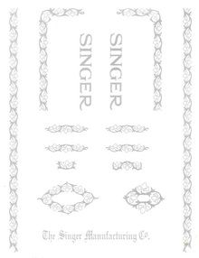 Singer 15 Sewing Machine Restoration Decals Silver Ink