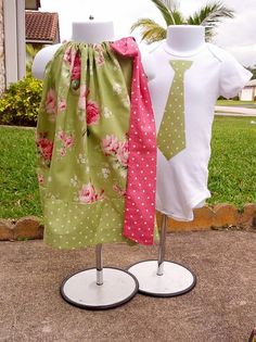 Garden Dress and Tie Set for Twins! LOVE THIS SET! $59.99