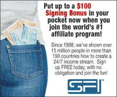 Earn money online with the worlds largest affiliate network,SFI.Not yet an affiliate? Join SFI FREE here Internet Business Opportunities, Online Business From Home, Be Your Own Boss, Earn Money Online, Earning Money, Online Jobs, Growing Your Business, Extra Money, Extra Cash