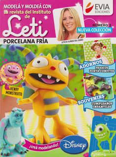 Cold Porcelain magazine 2 by Leticia Suarez del Cerro (Spanish) DISNEY Projects Step by Step Henry, Summer, Monsters INC and more by AmGiftShoP on Etsy Project Steps, Price Sticker, Cute Clay, Biscuit, Pasta Flexible, Monsters Inc, Air Dry Clay, Cold Porcelain, Clay Art