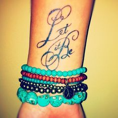 Stylish Let It Be Tattoo