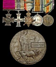 Posthumous 1915 Victoria Cross beats estimate by 11.1% at auction  Arthur Kilby VC's group