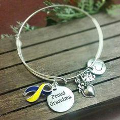 Proud Grandma Down syndrome Awareness Bangle