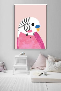 Achieve a lovely and luxurious pink theme bedroom for kids with Circu Magical furniture: CIRCU. Kids Room Art, Kids Room Design, Kids Wall Decor, Room Decor, Modern Girls Rooms, Childrens Wall Art, Pink Room, Pink Art, Room Paint