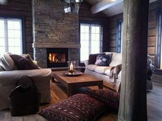 On the Floor Winter Cabin, Cottage Style, Mountain, Flooring, Interior Design, Cabins, Interiors, Inspiration, Home Decor