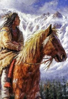 'Warriors of the High Country Ute, Native American paintings, James Ayers Studios' by JamesAyers Native American Horses, Native American Warrior, Native American Paintings, Native American Pictures, Native American Wisdom, Native American Beauty, Native American Artists, American Indian Art, Native American History