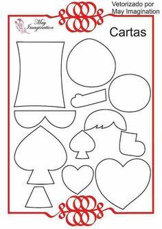 Mother & Daughter Crafts: Template Characters Alice in Wonderland Alice In Wonderland Crafts, Alice In Wonderland Tea Party, Alice Quotes, Book Quotes, Finger Puppet Patterns, Felt Quiet Books, Felt Decorations, Mad Hatter Tea, Felt Patterns