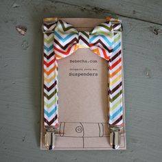 For Dale...Boys Suspenders and bow tie set Colorful chevron by Bebecha, $31.95