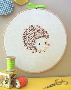 How to make the back of your embroidery work as neat and pretty as the front with this tutorial from Penguin & Fish