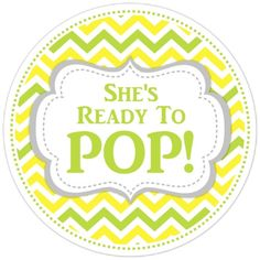 Baby Shower Ready To Pop Labels Chevron By Delightdesignbiz Favors