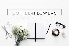 Coffee & Flowers Header Image Bundle by Design Love Shop on Creative Market