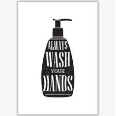 Poster Wash Your Hands Funny Bathroom Art, Bathroom Wall Art, Framed Art Prints, Fine Art Prints, Canvas Prints, Fabric Paper, Canvas Fabric, Monet Poster, Hand Silhouette