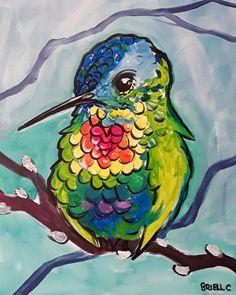 Learn to paint Radiant Rainbow Hummingbird