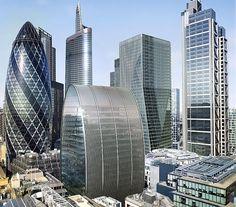 New Buildings in London, UK.