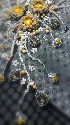 Simple beading embelishment Beading Projects, Kebaya, Ao Dai, Caves, Beaded Embroidery, Embellishments, Upcycle, Shabby Chic, Marble