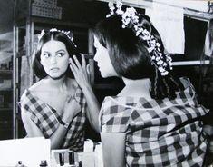 Claudia Cardinale on the set of Il Gattopardo