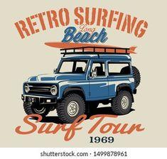 California Logo, Surfboard, Illustration, Monster Trucks, Surfing, Royalty Free Stock Photos, Retro, Image, Summer Time