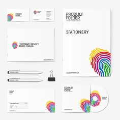 Colour Print - Printing House by NRE Branding Studio, via Behance