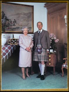 Queen Elizabeth & Prince Philip at Balmoral