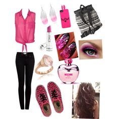 """""""pink look"""" by sophstar2000 on Polyvore"""