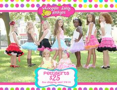 i love pettiskirts / girlie / girly / boutique / precious / cuteness / cute / adorable / flirty / fun / sassy / baby / toddler / little girl / whoopsie daisy designs