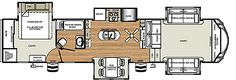 Sierra Fifth Wheels by Forest River RV.  Tim and I like the Sierra 379FLOK floor plan.. and the Sandpiper 381RBOK floor plan for kids.. and the Sandpiper 377FLIK floor plan.