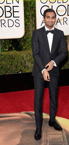 Best Dressed Men Golden Globes 2016 Aziz Ansari