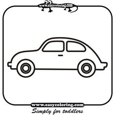 car four simple cars easy coloring cars for toddlers - Simple Car Coloring Pages