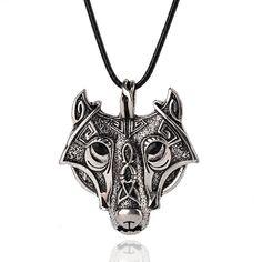 Fashion Wolf Norse Viking Pendant Necklace