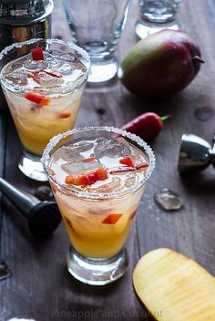 Spicy Chili Pepper Mango Margarita | Pineapple & Coconut
