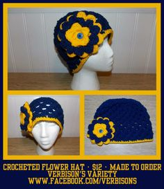 Crocheted Flower Hat
