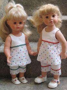 Je viens de terminer ces 2 tenues d'après le modèle de M&T de juin 2007