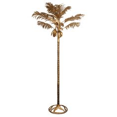 Monumental Arthur Court Brass Palm Tree Sculpture | From a unique collection of antique and modern sculptures & figurines at http://www.1stdibs.com/furniture/art-objects-vertu/figurines-sculptures/