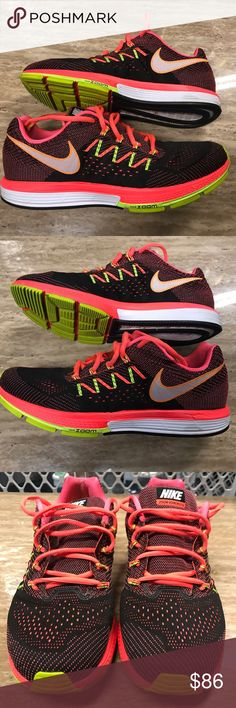 Men's Nike running Shoe Vomero 10 Great condition Nike Zoom Vomero 10 running shoe. Size 10, condition 7/10. Color- Hot Lava/white-black-volt. Please feel free to contact me for any questions.  Thanks!! Nike Shoes Athletic Shoes