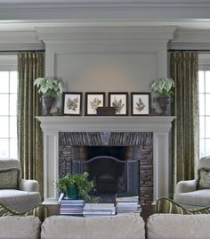 Grey and olive living room