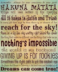 Hakuna Matata! Disney catchphrases