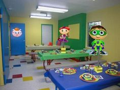 Super Why Birthday Party Centerpiece by playpatterns on Etsy