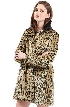 5fea7ab82477 Topshop Leopard Print Faux Fur Swing Coat available at #Nordstrom $170  Leopard Print Coat,