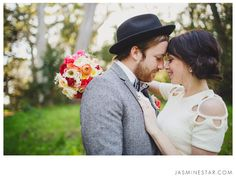 Love this pose. Great way to include bouquet and ring and B faces | Jasmine Star Photography