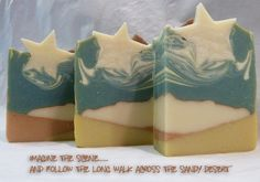 Follow The Star Christmas Soap - Gorgeous Christmas soap scented with frankincense and Myrrh