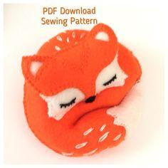 Felt Fox, Wool Felt, Pdf Sewing Patterns, Sewing Tutorials, Monkey Pattern, Fox Toys, Dragon Pattern, Felt Mouse, Digital Pattern