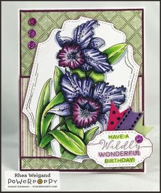 Ruffled Wild Orchids Digital Stamp Set | Power Poppy by Marcella Hawley