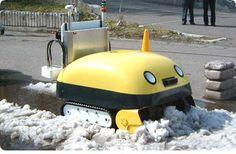 Yuki-Taro, an adorable Japanese self-uided robotic snowplow that turns snow into compact bricks