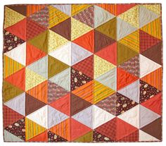 Check out this fun, fast and FREE triangle quilt tutorial!