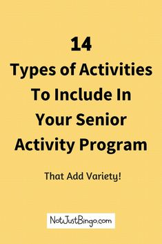 14 Types of Activities to Include in Your Nursing Home 14 Types of Activities to Include in Your Nursing Home,Assisted Living + Senior Activity Planning Are you struggling with planning senior activities for your. Assisted Living Activities, Senior Assisted Living, Nursing Home Activities, Senior Living, Senior Citizen Activities, Elderly Activities, Dementia Activities, Craft Activities, Exercise Activities