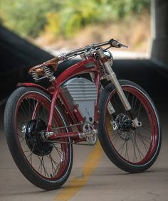 vintage electric tracker bicycle fuses modern luxury with classic styling